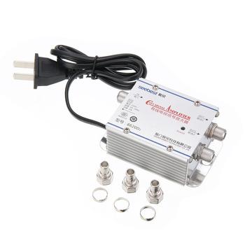 Gorąca sprzedaż 1pc 2Way CATV VCR TV antena wzmacniacz sygnału niski poziom hałasu prąd projekt CATV Booster Splitter 220V 45-860MHz tanie i dobre opinie Mayitr 45-860 MHz Indoor catv amplifier