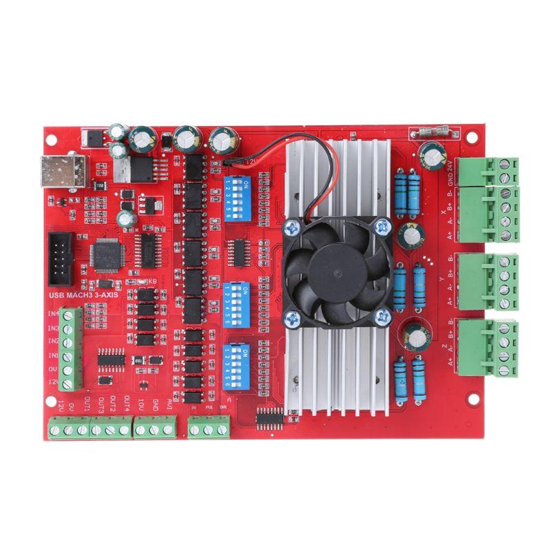 1 ensemble MACH3 CNC USB 100 Khz carte de dérivation 3 Axe Interface Pilote contrôleur de mouvement