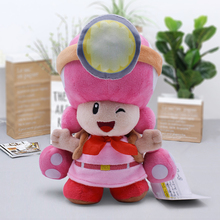 Super Mario Plush Toys 20cm Pink Carrying Bag Mushroom Toadette High Quality Soft Peluche Toy Dolls For Children Christmas Gift special christmas gift sma 20 20cm diy not ready made metal toy for human body skeleton ideal toy for dad and son together 20cm