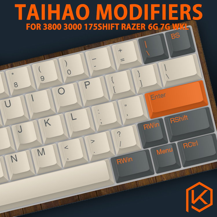 Taihao Abs Double Shot Keycaps Modifier For Diy Gaming Mechanical Keyboard Color Of Carbon Pulse Captain America Grey White