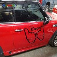 HotMeiNi 2 X Thumbs Up Victoire Un Signe de Confiance A Félicité Dope Main Drôle Autocollant De Voiture Camion Porte Fenêtre de Décalque de Vinyle 9 couleurs