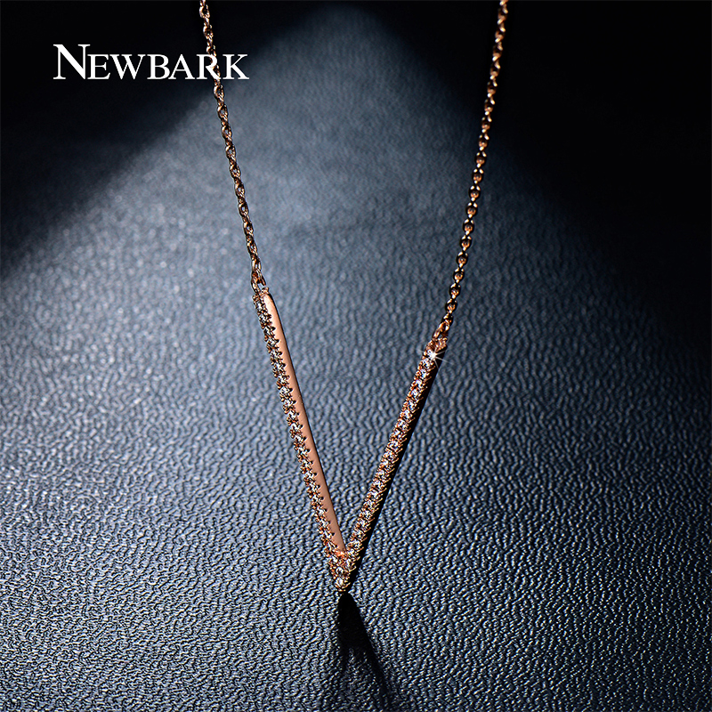 Newbark newest pendant necklaces top quality tiny cubic zirconia newbark newest pendant necklaces top quality tiny cubic zirconia simple v letter design silver color women necklace for women in chain necklaces from mozeypictures Image collections