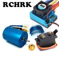 3650 3300KV 2700KV brushless motor+120A ESC+motor 17Tgear+Motor radiator+steering engine for RC 1/10 HSP 94111 94107 94103 94123