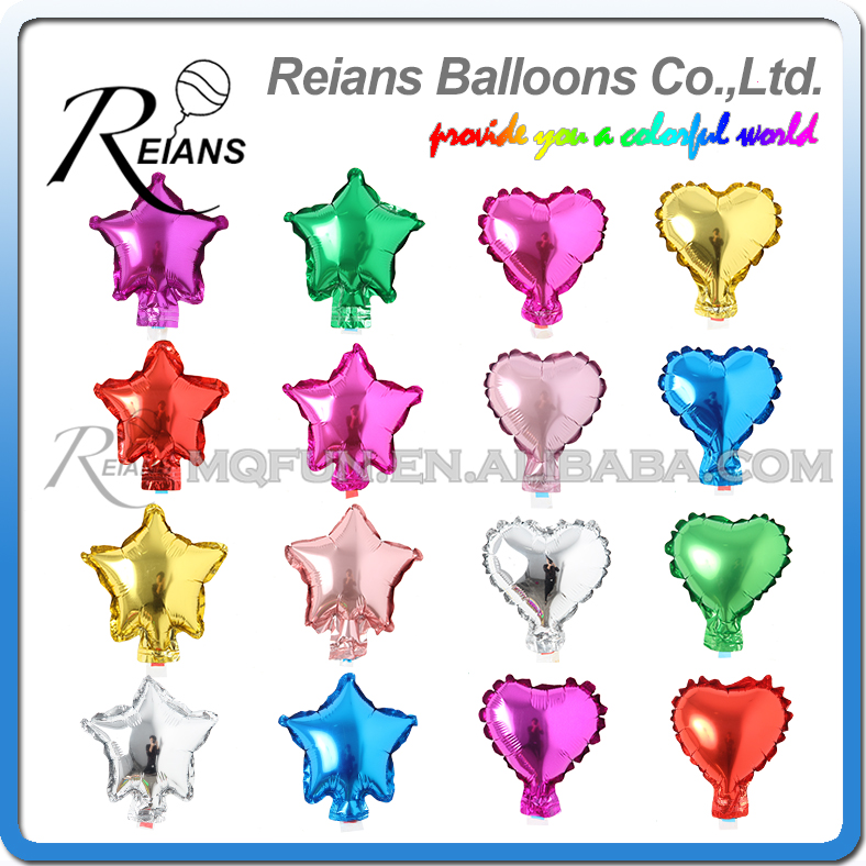 50 pcs/lot 5 Inch Five Star Heart Shape Aluminum Foil Balloons Inflatable Aluminum Balloons Wedding Birthday Party Decoration