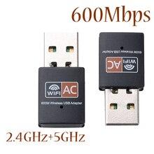 10 sztuk 2.4GHz + 5GHz, dwuzakresowy 600 mb/s Adapter USB Wifi bezprzewodowy karta sieciowa dla systemu Windows XP/Vista/7/8/8.1/10 Mac