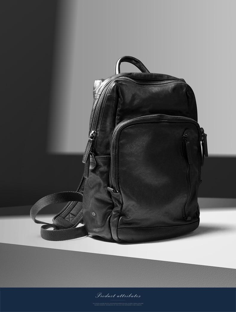 BVP famosa marca de diseño mochila de hombre de cuero de vaca y bolsa de tela impermeable Paquete de 15 pulgadas Portátil Bolsa de negocios de viaje para hombres nueva Bolsa 50-in Mochilas from Maletas y bolsas    3