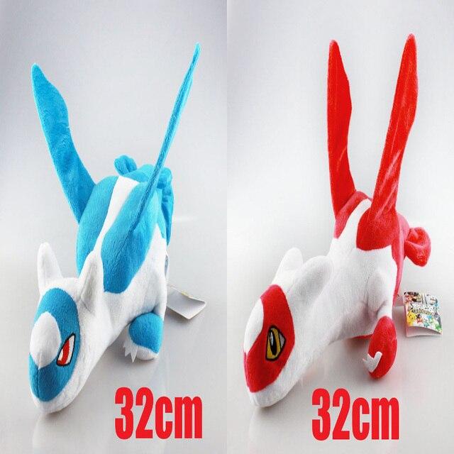 New Arrival Pokemon Latias And Latios Stuffed Plush Toys Doll With Tag 32cm Pokemon Plush ToyS Kids Toys Free Shipping