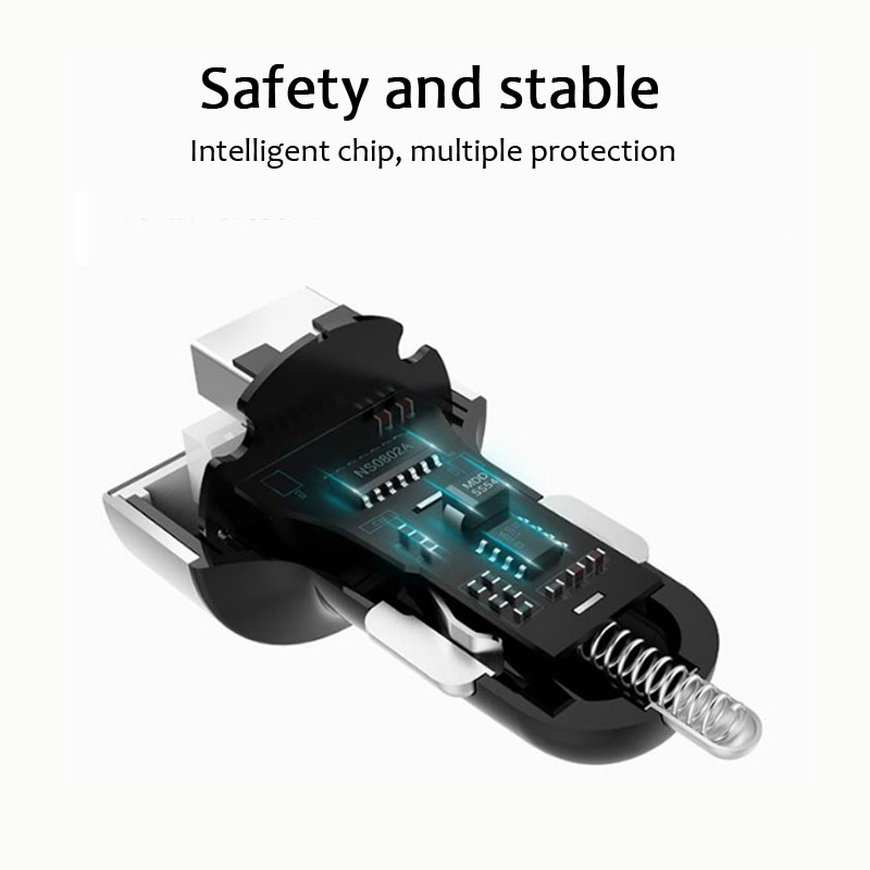 LED Display Multi function Car Charger 3 1A Fast Charger Dual USB Car Phone Charger Adapter for Samsung S8 iPhone 6 6s 7 8 Plus in Car Chargers from Cellphones Telecommunications