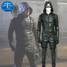 MLYX Men's Green Arrow Season 5 Cosplay Costume Deluxe Outfit Adult Halloween Cosplay Costume цена и фото