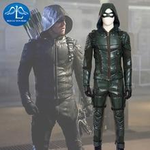 Manluyunxiao Mannen Kostuum Green Arrow Kostuum Deluxe Outfit Adult Halloween Carnaval Cosplay Kostuum Voor Mannen Custom Made