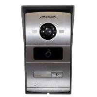 Включает монтажную коробку, Hikvision DS KV8102 IM, многоязычный визуальный домофон дверной звонок водостойкий, IC карта, IP домофон