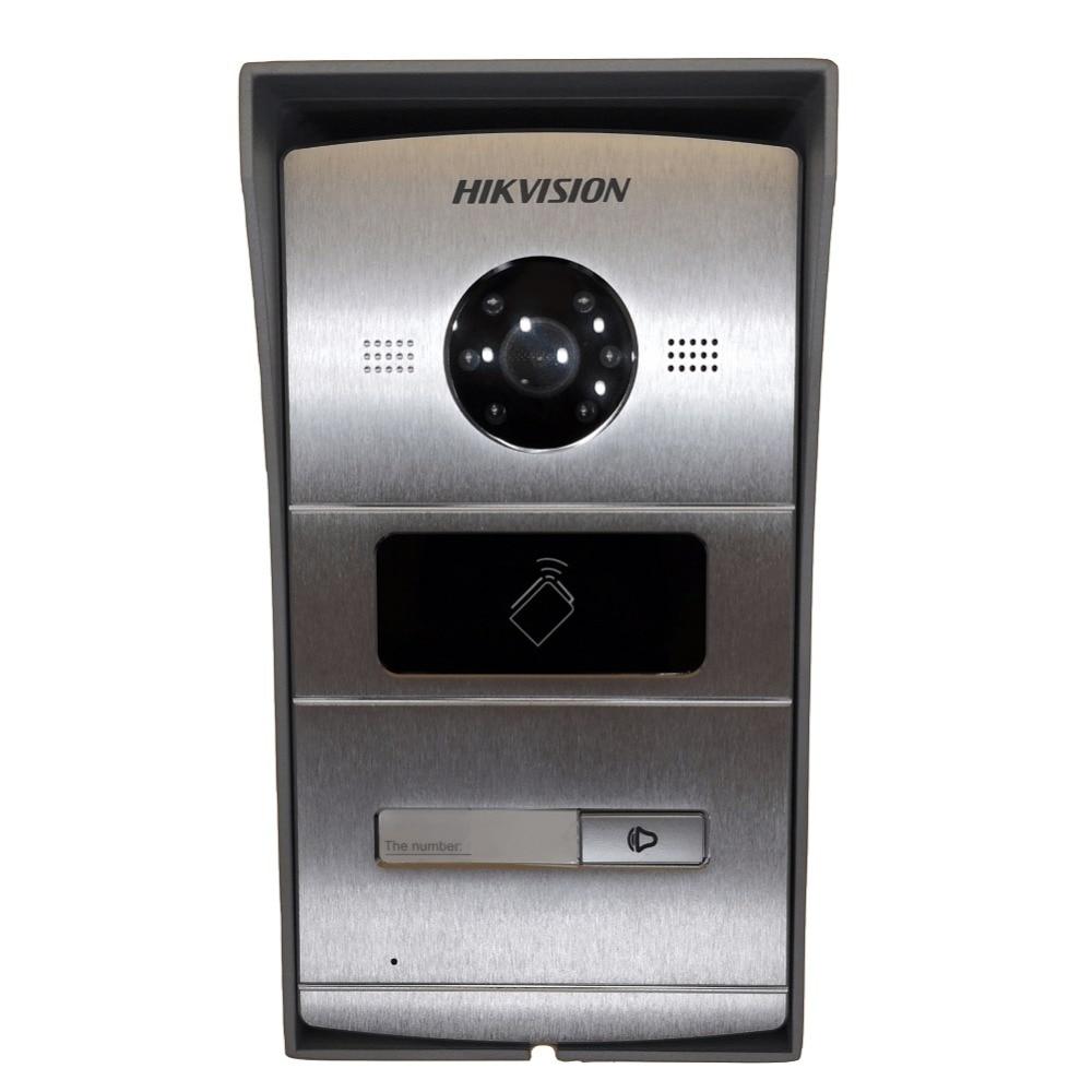 Comprende scatola di Montaggio, Hikvision DS-KV8102-IM, Multi lingua citofono Visivo campanello impermeabile, carta di CI, citofono IP