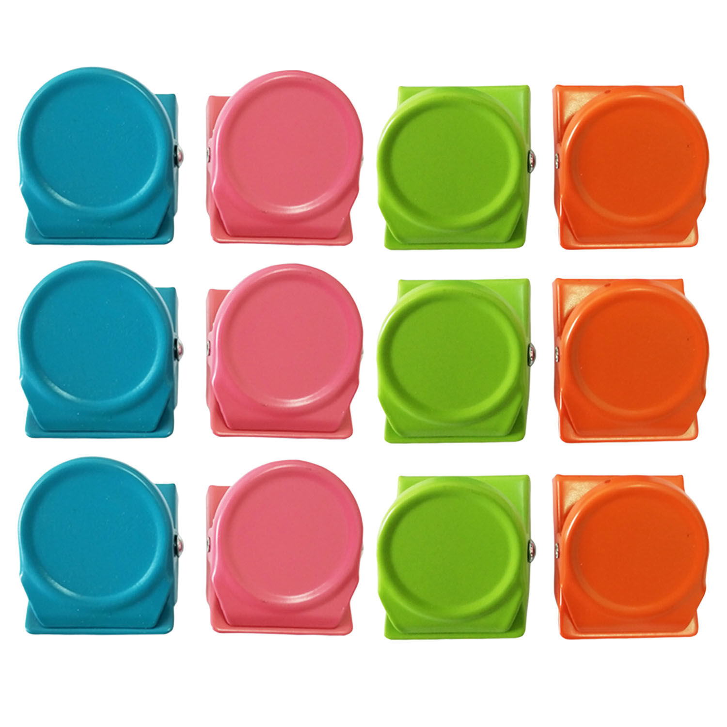 12PCS Assorted Colors Metal Magnet Magnetic Hook Clips For Home Kitchen Office School Pantry Study Studio Christmas Decoration