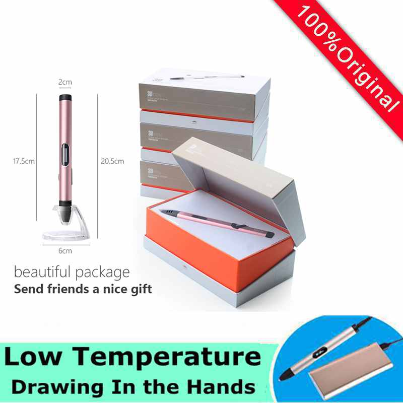 2017 Newest technology 3D Pen Low Temperature 85-95Degree Pen 3D Model Safest Gift For Kids Intelligent Drawing caneta 3d Pens  christmas gifts fast epacket dewang newest 3d pen wiht usb cable low temperature free 9m abs pla child gift for imagination