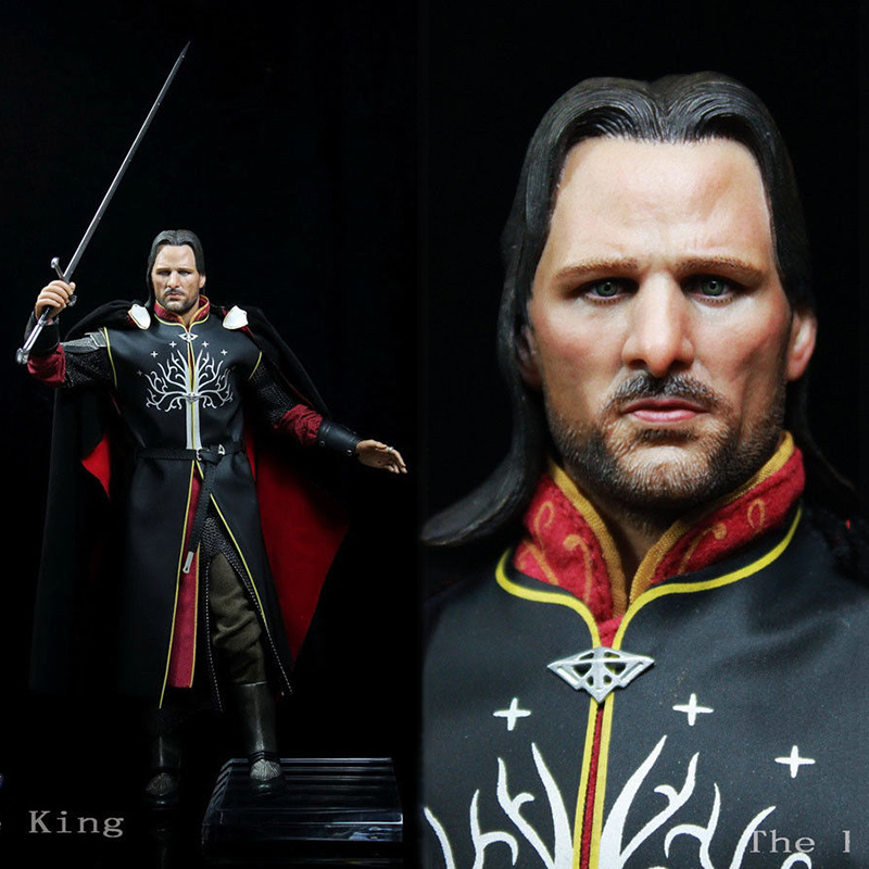 1:6 Art Figures AF007 1/6 The Lord of the Rings Aragorn II Collectible Figure Model Soldier doll Model for Collections 1 6 scale full set soldier the lord of the rings elven prince legolas action figure toys model for collections