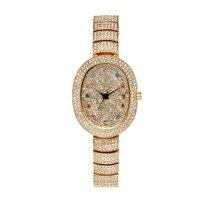 Comparar Nuevos relojes de marca de lujo de cristal austriaco para mujer reloj de pulsera de moda 2017 marca de diamante para mujer pequeño reloj de cuarzo