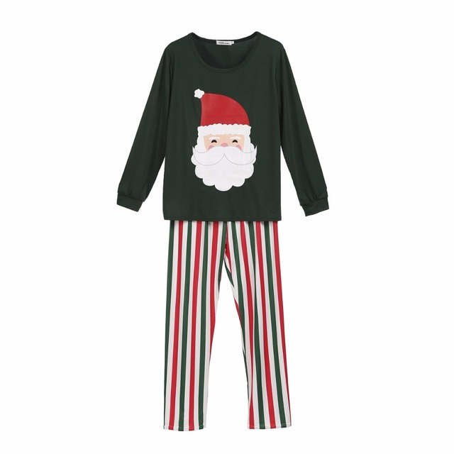 Family Matching Christmas Santa Claus Pajamas Sets 2018 Family Matching Clothes Homewear Father Mother Daughter Son Sleepwear