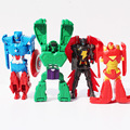 The Avengers figures toys Age of Ultron doll transformation toy Batman Hulk Captain America Iron man Vision Action Figure toy