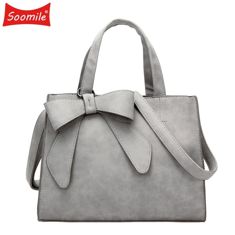 цены на 2018 Female Bow Handbag Fashion Tassel Messenger Bag Women Shoulder Bag Larger Top-Handle Travel Bag SAC Drop shipping wholesale в интернет-магазинах