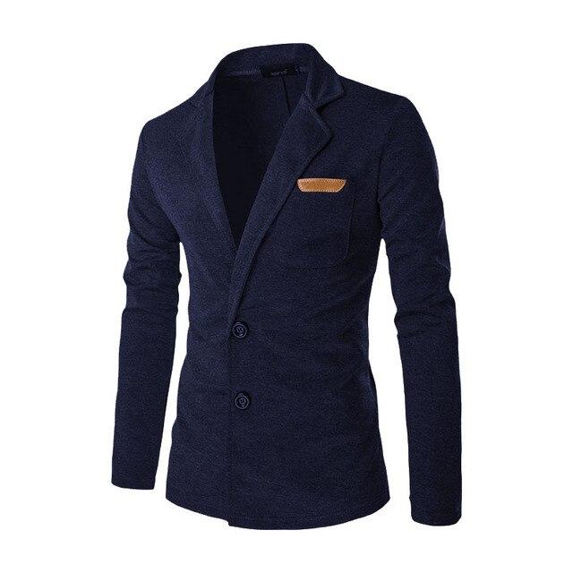 2017 New Men Blazer Fashion Slim Casual Blazer For Men Brand Mens Suit Designer Jacket Outerwear Male 5 Colors M~XXL