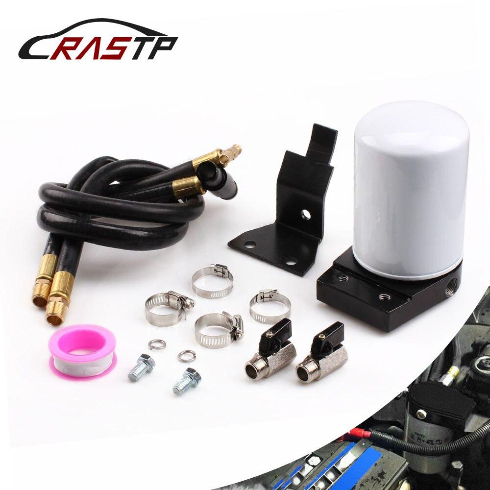 RASTP - Professional Coolant Filtration Filter Kit For 03-07 Ford V8 6.0l Powerstroke Diesel RS-BOV045