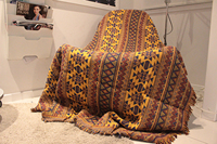 Indians Exoticism Ethnic Style Velvet Blanket Art Decor Tapestry Sofa TowelLeisure Cushion Shawl Blanket Wall Hanging Throw