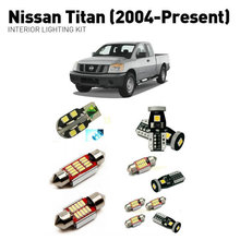Led interior lights For Nissan titan 2004+  17pc Led Lights For Cars lighting kit automotive bulbs Canbus цена