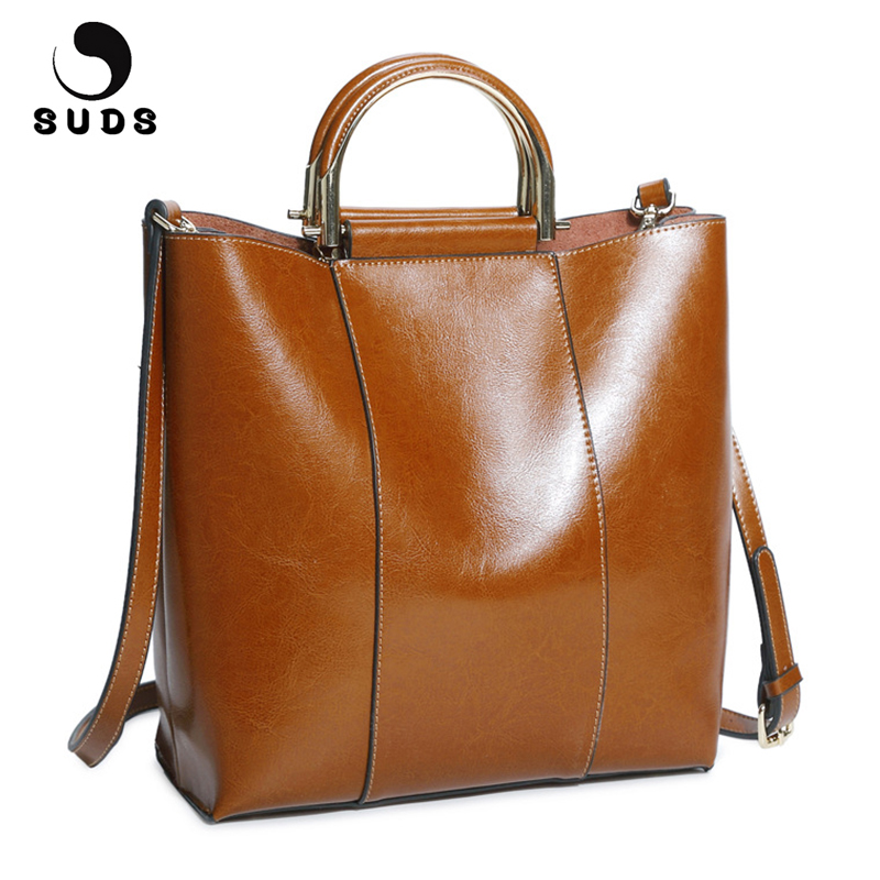 SUDS Brand Genuine Leather Bag Women New Fashion Large Capacity Handbags Designer High Quality Female Cow Leather Crossbody Bags maihui designer handbags high quality shoulder crossbody bags for women messenger 2017 new fashion cow genuine leather hobos bag