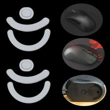 2 Sets/pack Tiger Gaming Mouse Feet Mouse Skate For Logitech G403 G603 G703 Gaming Mouse White Teflon Mouse Glides Curve E