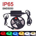 SMD5050 300LED 5m LED Strip Light Waterproof Flexible LED Lamp Single Color IP65 Ribbon Tape With 12V 5A Power Adapter