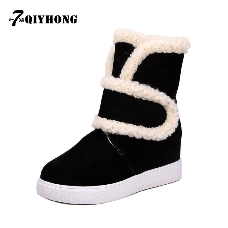 QIYHONG   BRAND 2016 Hot Sell Fashion Winter High-Quality High Boots Snow Boots Women Cotton Boots Warm Shoes Size35~40