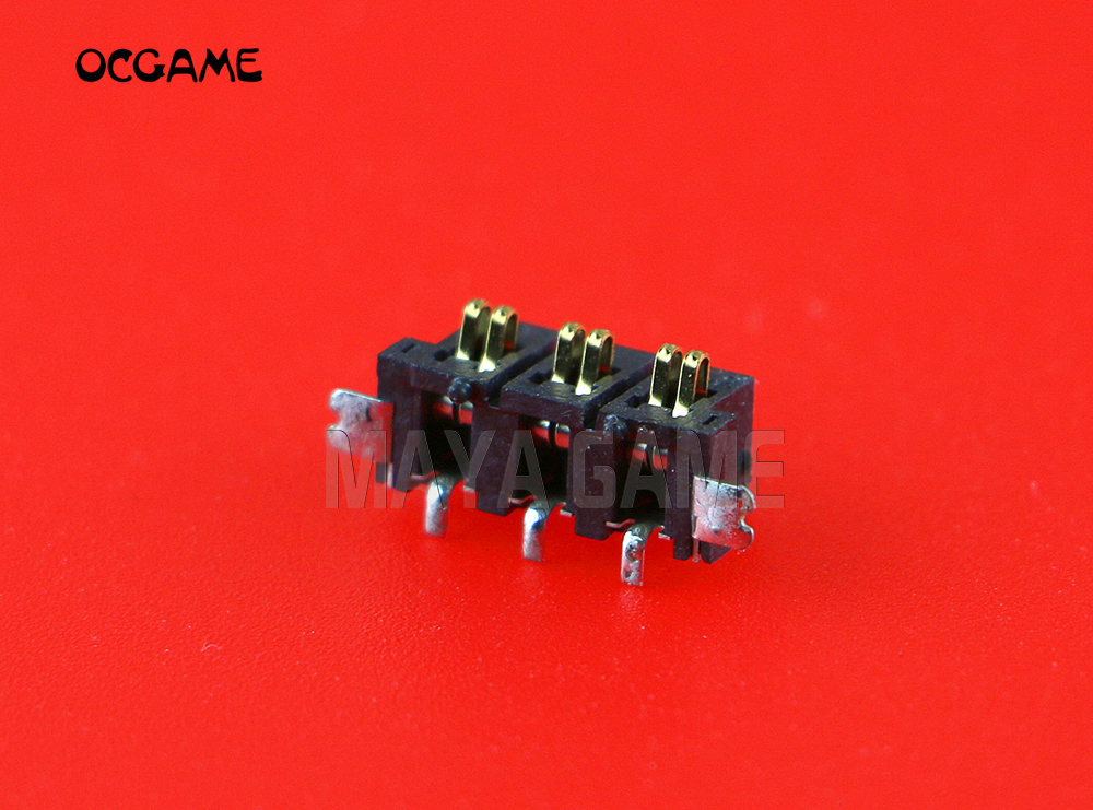 OCGAME 3pcs/lot Original used replacement parts <font><b>battery</b></font> Socket connector DC Jack Slot for <font><b>2DS</b></font> image