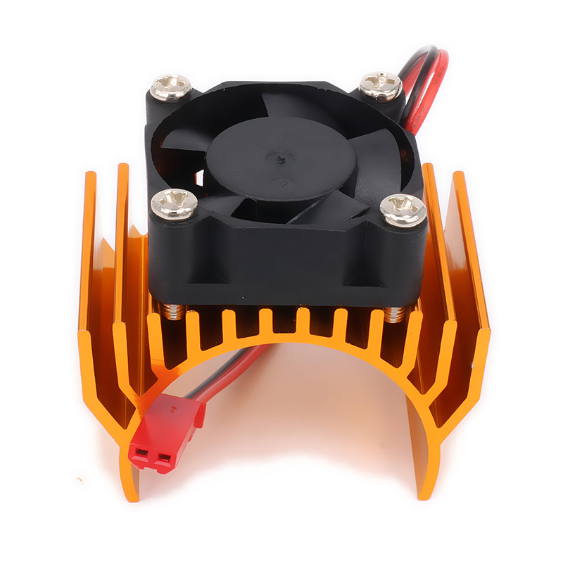Motor Heat Sink Heatsink With Fan Cooling Head Vent Top 6v JST 540 545 550 Size