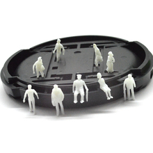 Free shipping 500pcs miniature white figures Architectural model human 1;150 ABS plastic peoples