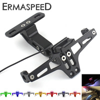 Optional Colors CNC Aluminum License Plate Frame With Led Light For YAMAHA TMAX 530 2012 2016