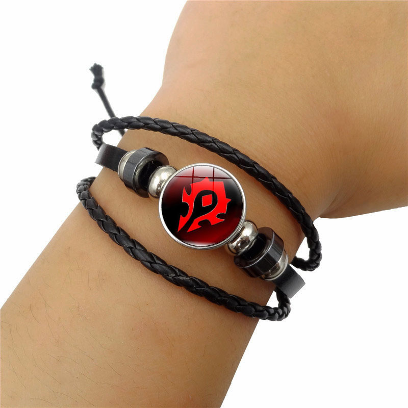 World of Warcraft Braided Leather Bracelet