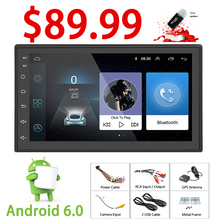 Rhythm android 6.0 Player 2 din radio New universal GPS Navigation Multimedia For Nissan Toyota Volkswagen Mazda BYD Kia VW