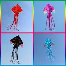 Высокое качество большие Осьминог воздушные змеи в виде рыб катушечная моталка открытый игрушки wei кайт Забавный завод cometas 3d