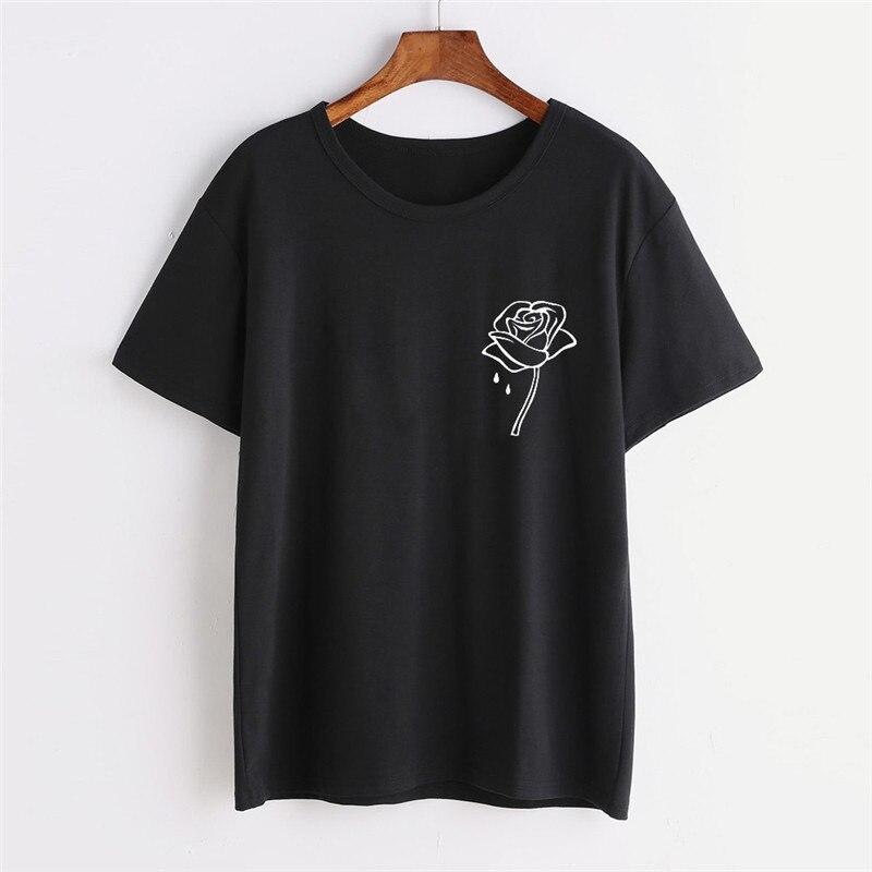 Ladies Shirts Fashion Cartoon Rose Flower Print Sleeveless Casual Tank Vest Women Tshirt Tee Shirt Femme Womens T Shirt Tops
