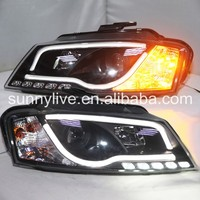 LED Head Light with projector lens For Audi A3 2008 2012 Year Original car with halogen standard