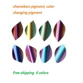 Пигмент хамелеон, изменение цвета пигмента в разных направлениях, акриловая краска широко используется в пластике, автомобиле.