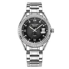 SOLLEN watch men's fashion business waterproof steel quartz watch luminous watch gold diamond among flour SL9042