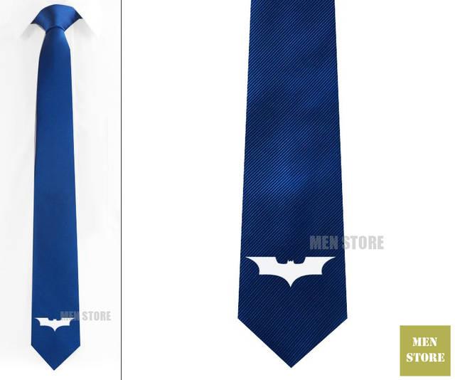 Legal Batman Símbolo Dos Homens Tecido Jacquard Skinny Slim Narrow