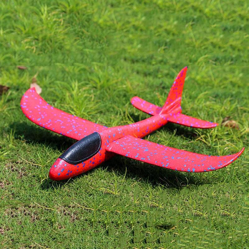 48CM main jeter mousse avion jouets en plein air lancement planeur avion enfants cadeau Jouet gratuit mouche avion jouets Puzzle modèle Jouet