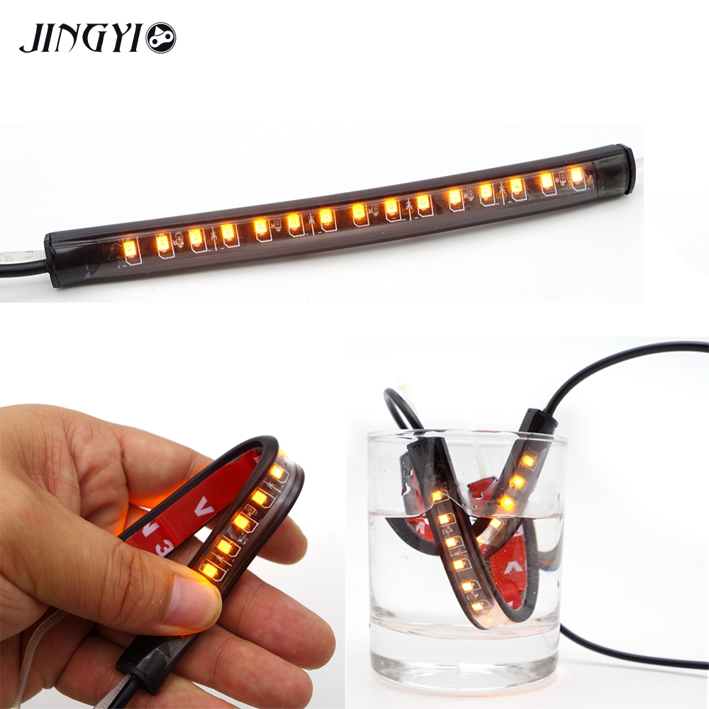 Jingyi Mayitr 1pcs Motorcycle Led 39mm-41mm Fork Turn Signal Strip Light Amber Lamp For Harley Victory High Quality Unequal In Performance Home