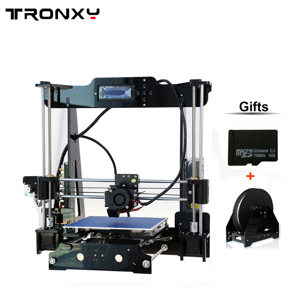 Big size 220*220*240mm High Quality Auto Leveling Precision Reprap i3 3d Printer DIY kit with 1 Roll Filament 8GB SD card high quality precision reprap prusa i3 diy 3d printer kit with 1 roll filament 8gb sd card