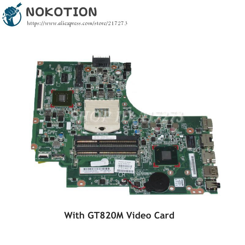 NOKOTION 747263-001 747263-501 Laptop Motherboard For HP Compaq 14-D 240 G2 246 G2 MAIN BOARD HM76 DDR3 GT820M Video card 747262 001 for hp 240 246 g2 14 d series laptop motherboard p n 010194g00 35k g hm76 mainboard rpga989 100