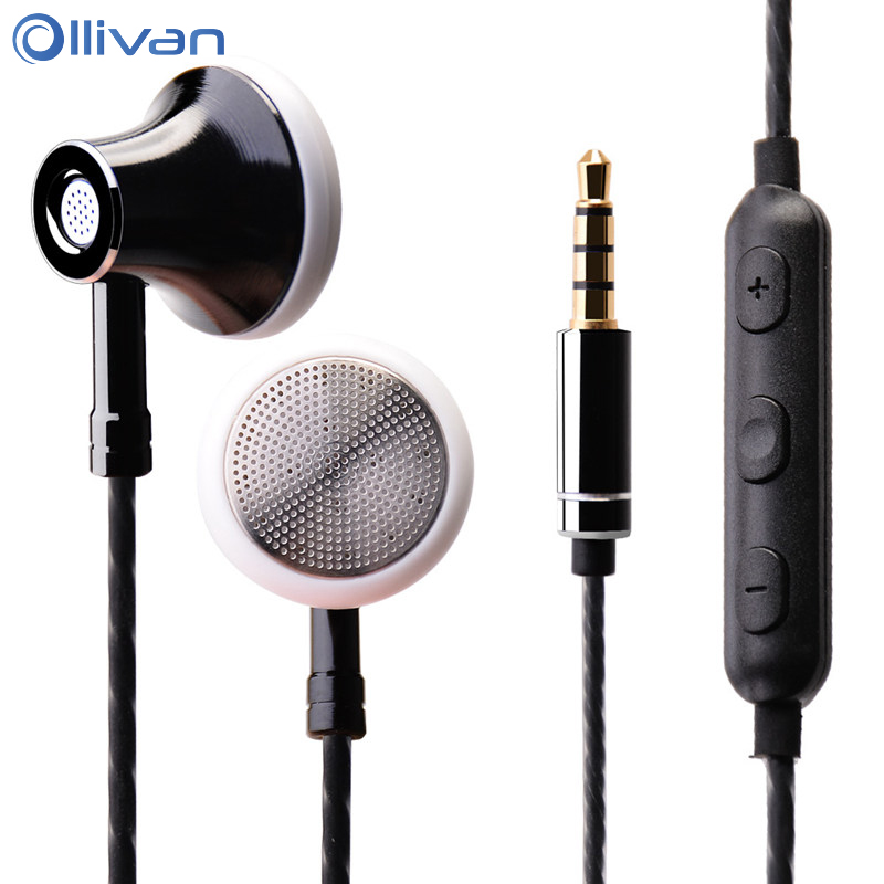 Ollivan MS16 In Ear Earphone 3.5mm Earbuds Sports Running Headset With Microphone Wire Control Earphones For Phone / PC / Tablet image