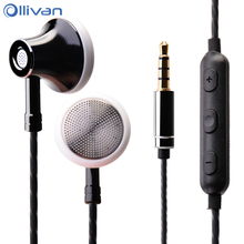 Ollivan ms16 이어폰 3.5mm 이어 버드 스포츠 실행 헤드셋 마이크 와이어 제어 이어폰 전화/pc/태블릿