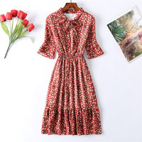 Шифоновое платье с принтом